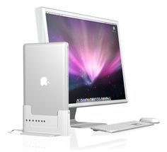 Henge Docks has created the first truly comprehensive docking station solution for Apple's line of notebook computers. This means you can quickly, easily and cleanly incorporate your MacBook computer into a desktop setup or your home theater system, so you get the best features of a laptop, desktop and media center PC all from one computer. $60.00