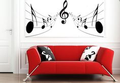 Music Notes Wall Sticker bedroom kitchen art vinyl decal Transfer Graphic Mural on Etsy, £14.99