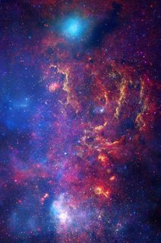 A never-before-seen view of the turbulent heart of our #MilkyWay galaxy | The composite image features the spectacle of stellar evolution: from vibrant regions of star birth, to young hot stars, to old cool stars, to seething remnants of stellar death called black holes. This activity occurs against a fiery backdrop in the crowded, hostile environment of the galaxy's core, the center of which is dominated by a supermassive black hole nearly four million times more massive than our Sun.