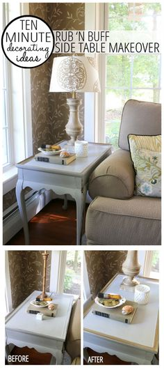 10 Minute Quick & Easy Decorating – Side Table Makeover