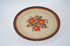 Polish ceramic Plate Polish pottery Floral Plate Decorative plate Hand Painted Folk Flowers Bohemian roses Food Styling Photography Props by VintagePolkaShop on Etsy