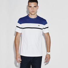 T-shirt decote redondo Tennis Lacoste SPORT em piqué ultra-dry color block  Ideias dcc4e45be9b37