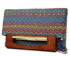 Duro Olowu for JCP -- Wood Handled Clutch