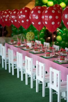 Hostess with the Mostess® -Adorable Table!! for a picnic theme or ladybug theme or in this case a little bear theme