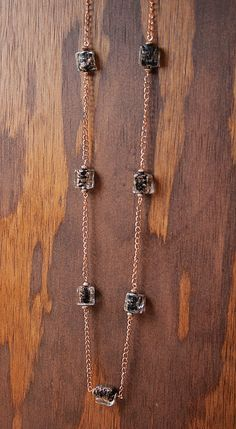 Copper and black winter 2014 necklace.  Handmade Black Copper Necklace Black Lampworked by GnidGnadDesigns