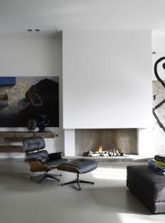 | FIREPLACE | simple yet elegant wood burning fireplace. Photo Credit: #PietBoon