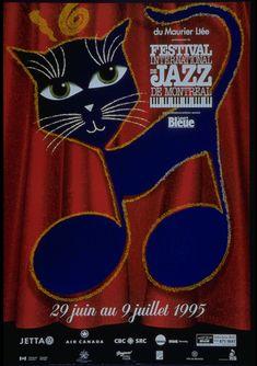 Affiche du Festival international de Jazz de Montreal 1995. Création : Yves Archambault