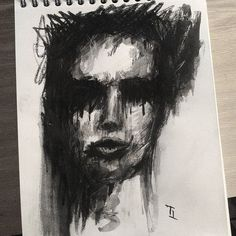 True face. Without hypocrisy.  #face #portrait #art #blackandwhite #woman #painting #drawing #charcoal #artistsoninstagram #inspiration