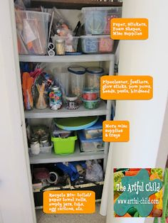 I especially like the bin for recycled items (paper towel rolls, egg cartons, empty jars, etc).