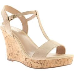 Style Charles by Charles David Link Women's T-Strap Wedge Sandals, Natural Nude Wedges, T Strap, Platform Shoes, Shoes Online, Style Guides, Wedge Sandals, Charles David, Womens Fashion, Link