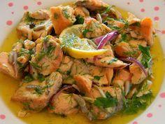 visnap.blogspot.com . Merhabalar. Nefis bir balık salatası daha benden sizlere gelsin.Bu sefer ki balığımız somon.Ben ki öyle ahım şahım ...
