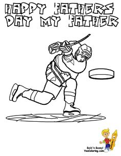 this is a ice hockey dad for your fathers day coloring page collection tell others