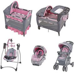 Graco - Ally Collection Baby Gear Bundle Like ONLY the GIRLS PLAYPEN and perhaps the swing