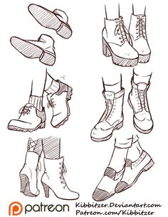 Shoes Reference Sheet 2 by Kibbitzer.deviantart.com on @DeviantArt