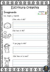 Fomentar la escritura creativa desde edades tempranas impulsa y desarrolla el aprendizaje de la lengua, desde la amplitud de vocabulario al conocimiento de la estructura y formas que constituyen el… Spanish Activities, Class Activities, Learning Spanish, First Grade Writing, Preschool Class, Spanish Classroom, Elementary Education, Graphic Organizers, Anchor Charts