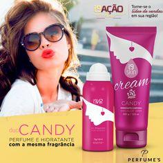 ✨✨ Perfume + Hidratante com a mesma fragrância importada para o perfume durar muito mais na sua pele. Inspirado no Prada Candy, essa fragrância oriental gourmand é a queridinha de mulheres modernas, fashion, descoladas e divertidas!   💻 Site: www.perfumesi9.com.br