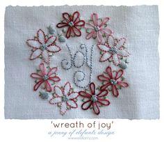 Wreath of Joy - a PDF stitchery pattern by Jenny of Elefantz. - via @Craftsy