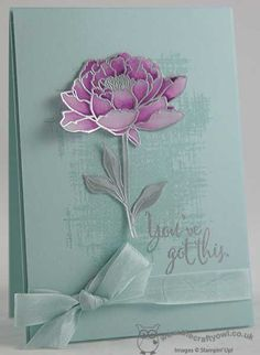 Check out this beautiful effect when you stamp the fabulous You've Got This flower on vellum and colour with ink and a blender pen! #youvegotthis The Crafty Owl | The daily blog of Joanne James <br />Independent Stampin' Up! Demonstrator -- <a href=mailto:joanne@thecraftyowl.co.uk>joanne@thecraftyowl.co.uk</a>