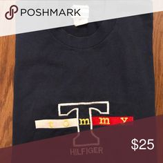 VINTAGE TOMMY HILFIGER CREW Size: Large Condition: Pre-owned - Good Price: $25 Tommy Hilfiger Shirts Tees - Short Sleeve