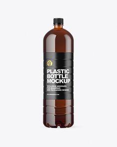 1.5L Amber Plastic Bottle Mockup Plastic Animals, Bottle Mockup, Creative Words, Plastic Bottles, Whiskey Bottle, Espresso, Beverage, Soda, Amber