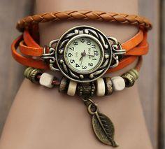 Leather Watch sude wrap bracelet watch top quality by xiangnaier, $11.80
