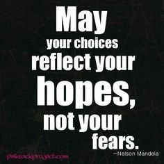 Our choices will reflect our focus