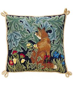 Fox Needlework Kit, Beth Russell  Just finished my last needlepoint. Now I need a new one to start.