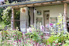 rustic back porch...