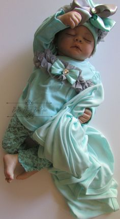 Newborn Baby Girl Clothing Set, Take Me Home Outfit, Mint Grey Complete Set, Pants, Top, Blanket, Hat Baby Girl Shower Gift by BeBeBlingBoutique on Etsy