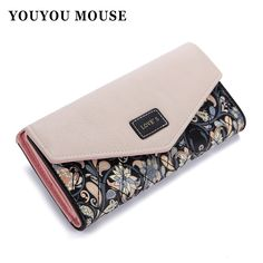 2015 New Fashion Envelope Women Wallet Hit Color 3Fold Flowers Printing 5Colors PU Leather Wallet  Long Ladies Clutch Coin Purse-in Wallets from Luggage & Bags on Aliexpress.com | Alibaba Group  $5.88