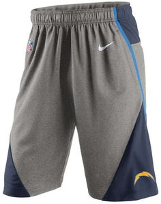 """These loose, flexible Nike men's NFL Fly XL 4.0 shorts will become a comfortable staple of your wardrobe. In moisture-wicking Dri-FIT technology, the elastic waistband keeps everything in place. Wear these smooth Nike shorts and show your support for the San Diego Chargers. Elastic waistband Side pockets Screen print team logo at front left leg Screen print brand logo at front left Screen print nfl logo at front right Moisture-wicking Dri-FIT technology Approximate inseam: 11"""" Polyester…"""