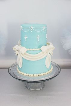 Cinderella birthday cake from a Princess Pink Cinderella Birthday Party at Kara's Party Ideas. See more at karaspartyideas.com!