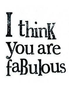 Hey you are so fabulous Katie.  ❥