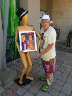 Own a Laubar Painting. Phone, Hats, Painting, Studio, Fashion, Moda, Telephone, Hat, Fashion Styles