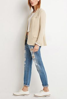 Single-Button Knit Blazer | Forever 21 - 2000136214