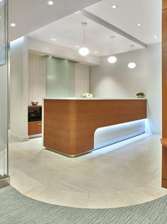 Professional office design for healthcare, and residential design. Dedicated to delivering innovative and timeless design solutions. Reception Counter Design, Office Reception Design, Office Table Design, Dental Office Design, Office Interior Design, Office Interiors, Clinic Design, False Ceiling Design, Furniture Design