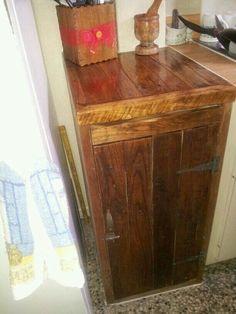 Gabinete cocina Hecho con madera De Pallet Creaciones Papulin Luciano
