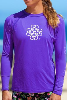 Women's Loose Fit Paddle Shirt (Purple) – MAHIKU This sun protective shirt matches most of the Mahiku line perfectly. Breathable, UPF 30+ Sun Protection and a sporty raglan cut.