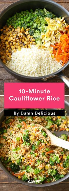 1. 10-Minute Cauliflower Rice #healthy #quick #dinners http://greatist.com/eat/healthy-dinner-ideas-in-30-minutes-or-less