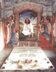 Stone inside the tomb, Meher Baba