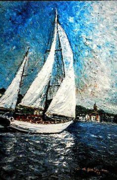 Sailing in Saint Tropez by Daniel de Quelyu