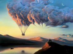 paisajes surrealistas con nubes