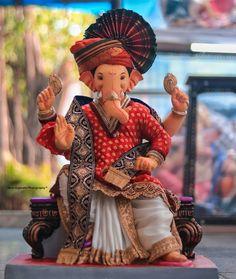 Shri Ganesh Images, Ganesh Chaturthi Images, Shiva Parvati Images, Ganesha Pictures, Ganesh Idol, Ganesha Art, Krishna Art, Ganpati Bappa Photo, Ganesh Lord