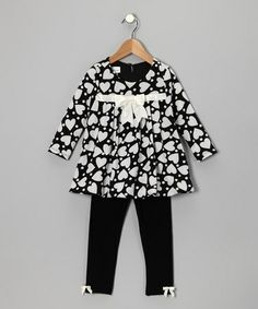 Take a look at this Black & White Heart Bubble Tunic & Leggings - Toddler by Gerson & Gerson and Allison Ann on #zulily today!