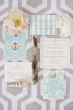 Bald Head Island Wedding ~ Invitations by  http://chereeberry.com, Photography by harwellphotography.com