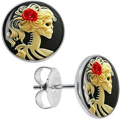 Red Rose Skeleton Cameo Stud Earrings BodyCandy http://www.amazon.co.uk/dp/B00D470SDA/ref=cm_sw_r_pi_dp_oFDJtb05DMJANC47