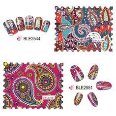 Bluesea Nail Sticker Water Decal Blooming Flower Nail Art Beauty Wrap Foil Polish Transfer Stickers For Nail Art