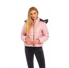 TOP QUALITY FOR LESS -Stylish, Winter warm and Comfortable -Zipper front and removable Zip Hood -Long sleeves with knit cuffs -Zip pockets at waist -Fill: polyester -Lined -Mid-weight -Machine washable -Colours; Black and Pink Winter Puffer Jackets, Weight Machine, Fur Jacket, Faux Fur, Fill, Cuffs, Colours, Pockets, Jackets