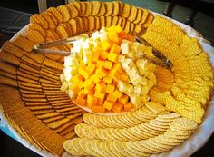 T and J Catering Cheese & Cracker Display