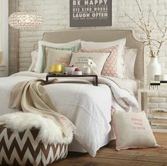 I kinda like the mismatched accent pillows.  It breaks the beige and white up without overpowering it.  kw